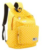 UZZO Girl's Women's Vintage Cute Polka Dot Backpack School Book Campus Bag
