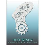 Bad Ass Steampunk Gears Hot Wingz Stencils HOTWING8012