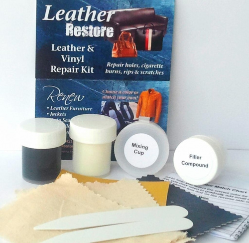 Leather Furniture Repair Kit Cat Scratches: Leather Restore Air Dry Leather And Vinyl Repair Kit Fixes