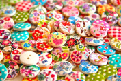 Pack of 50g Over 100 PCS - Mixed Colours of Various Shaped Mixed Buttons for Sewing and Crafting