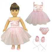 Ballet Ballerina Dance Dress Clothes Set for American Girl Doll