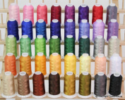New Brother 40 Colours Embroidery Thread Set 40wt Polyester Threads from ThreadNanny