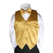 Unotux 3pc 23 Colour Satin Boys Vest Bow Tie Necktie Sets Formal Tuxedo Suits S-7