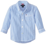 Tommy Hilfiger Baby-Boys Newborn Long Sleeve Tommy Stripe Shirt