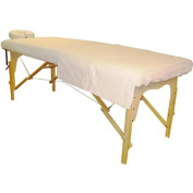 Sivan Health and Fitness Massage Table White Flannel Sheet and Face Cover Set