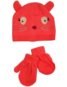 Winter Warm-Up - Infant Girls Hat and Mitten Set