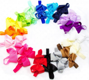 Ema Jane - Large (11cm wide) Grosgrain Hair Bows on Iridescent Headbands