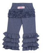 RuffleButts Baby-girls Faux Denim Fancy Flare Pants