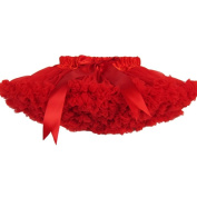 Buenos Ninos Girl's Solid Colour Dance Pettiskirt Size 9-10T Red
