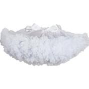 Buenos Ninos Girl's Solid Colour Dance Pettiskirt Size 9-10T White
