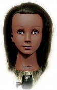 Celebrity Jasmine Budget Cosmetology Ethnic Human Hair Manikin, 16-43cm