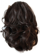 36cm & 110g Hair Piece Pony Tail Extension (DARK BROWN CHOCOLATE BRUNETTE) Straight Light Curled (Nature Looking) Heat-Resisting Like Real Human Hair