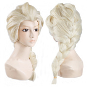 Angelaicos Women's Braids Prestyled Party Costume Cosplay Wigs Long Light Blonde