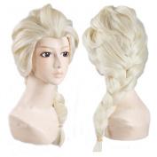 Generic Anime Cosplay Costume Wig for Disney Movies Frozen Snow Queen Elsa