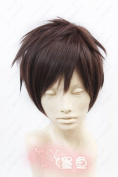 2013 Wig Newest Attack on Titan Eren Jaeger Short Dark Brown Anime Cosplay Wig +Wig Cap