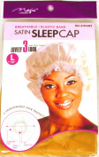 Light Brown, Satin Sleeping Cap, Breathable and Comfortable Material, Elastic Band, Large Size 50cm to Accommodate Hair Curlers and Rollers, Keeps Hair Styles in Place and Helps to Prevent Breakage