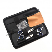 KLOUD City @ Professional Hair Cutting Scissors Shears Barber Thinning Set Kit with a Black Case