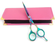 Professional Hairdressing Scissors Hair Cutting Shears Barber Salon Styling Scissors 15cm Japanese Steel with Case