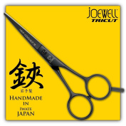Joewell Black Cobalt 13cm Straight Handle Shears / Scissors with Free Good - Authorised Dealer