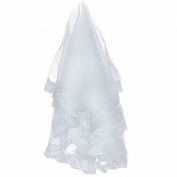 Loveshop 1t White Beautiful Fingertip Length Wedding Bridal Veil 3 Metres Long--white