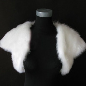 CIMC LLC Short Sleeves Faux Fur Bridal Stole Bridal Wedding Wrap shawls