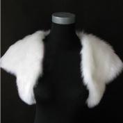 CIMC LLC Short Sleeves Faux Fur Bridal Stole Bridal Wedding Wrap shawls