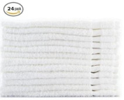 Egyptian Towels 100% Cotton SALON Towels 41cm x 70cm , 24pk White