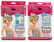 Turbie Twist Microfiber Super Absorbent Hair Towel (2 Pack) Cupcakes / Sprinkles