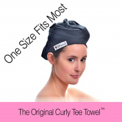 The Ultimate Hair Drying Towel Wrap. Microfiber & Terry Cloth - Get Beautiful Healthy Hair in 7 Days - Will NOT Damage Your Hair Like Other Products - Eliminates Frizz - The Original Curly Tee Towel - Vegan & Earth Friendly - 100% Happines ..