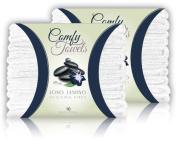 Comfy White Microfiber Salon Towels - 20 Pack, 70cm x 41cm