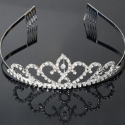 USA Seller Flower Style Tiara Crown Headband Comb Pin Charming Rhinestone Wedding Bridal Bride Party Birthday Tiaras
