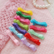 Lace Kenzola 12pc Toddler Classic Mini Assort Ribbon Bow Hair Barrettes Set