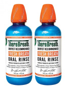 TheraBreath Dentist Recommended Fresh Breath Oral Rinse - Icy Mint Flavour, 470ml