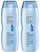 Two Avon SKIN SO SOFT Fresh & Smooth Moisturising Hair Minimising Body Lotion