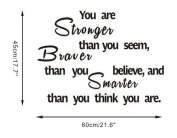 Salala Original Quote Wall Decal You Are Stronger Than You Seem Quote Wall Sticker Home Decor