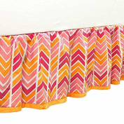Sunshine Chevron Dust Ruffle