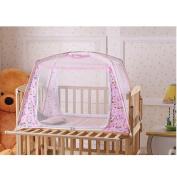 LOHOME(TM) Zippered Baby Kid Children Nursery Bed Crib Mongolia Pack Folding Cot Mosquito Net Yurt Folding Mosquito Net Tent House Nets Crib With Stand Child Mosquito Bar Crib