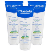 Mustela 2 in 1 Hair & Body Wash 200ml, 3 Pack