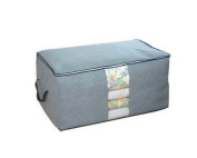 Domire Quilt Cloth Blanket Fabric Storage Organiser Bag Transparent Window Bamboo Charcoal Box