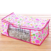 Domire Quilt Blanket Pillow Under Bed Storage Bag Box Container Non-woven Fabric Size:Large