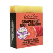 Lolablue Grapefruit Rose Geranium Soap Palm Oil Free