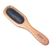 Health Comfortable Wide Tine Cushion Hair Care Spa Massage the Scalp Hair Brush Makeup Airbag Comb - Natural Wooden with Nylon Massaging Bristles