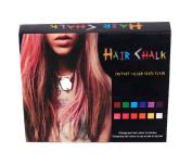 Hair Chalk Temporary Hair Highlights 12 colours
