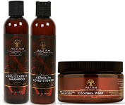 As I Am Naturally 3pcs Combo Deal (Curl Shampoo, Leave-In Conditioner, and Cocoshea Whip) Plus 1 free pencil