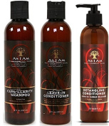 As I Am Naturally 3pcs Combo Deal (Curl Shampoo, Leave-In Conditioner, and Detangling Conditioner) Plus 1 free pencil