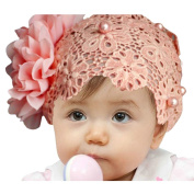 Coromose 1pc New Cute Kids Lace Flower Pearl Hairband