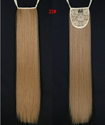 """24""""(60cm) 110g Long Straight Synthetic Ribbon Ponytails Clip in Hair Extensions Dark Blonde#22"""