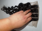 3 Way Part 4*4 Lace Top Closure 41cm Brazilian Virgin Remy Hair Deep Wave natural colour Can Be Dyed