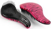 """Hair Tamer Pink Zebra """"Ergo"""" Detangling Hair Brush Teezer"""