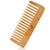 Taya Wide-Tooth Wooden Comb with Amazon White Clay Samples